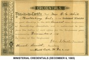 Ministerial Credentials (December 6, 1885)