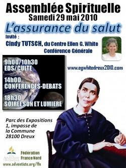 Assemblée spirituelle de l'Eglise adventiste à Dreux avec Cindy Tutsch