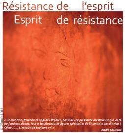 Colloque Résistance de l'esprit - Esprit de résistance