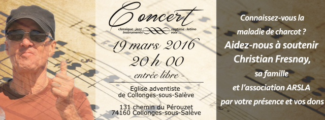 Concert 19 mars 2016 20h00