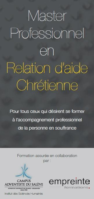 Master Professionnel en Relation d'aide chretienne - Formation assurée en collaboration par Campus adventiste du Salève et Empreinte formations