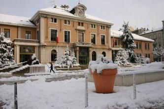 Annemasse sous la neige